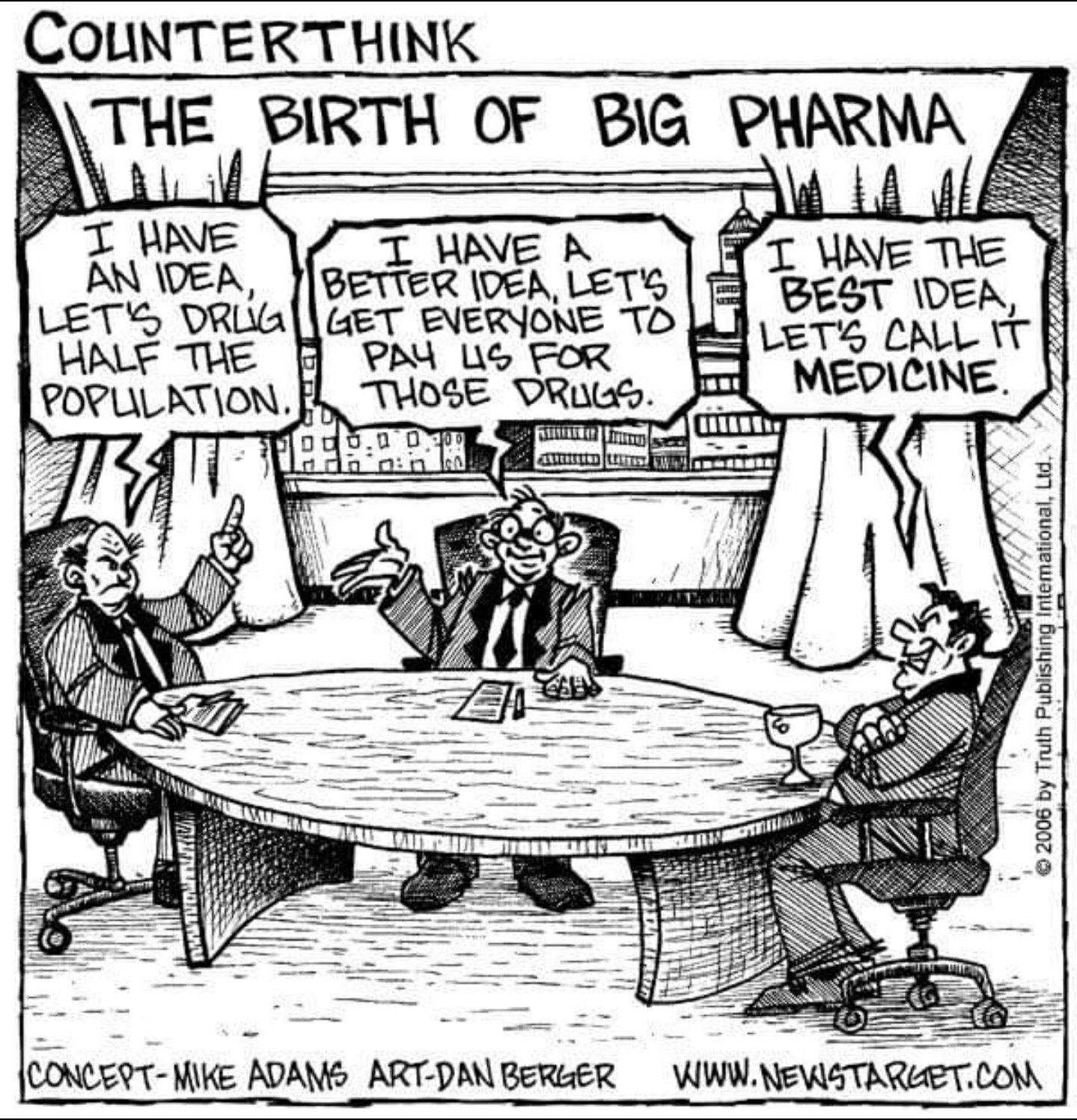 Big Pharma adalah industri untuk mengaut keuntungan berbilior dollar
